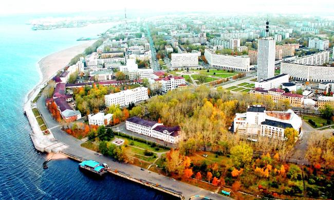 Архангельск: вид сверху