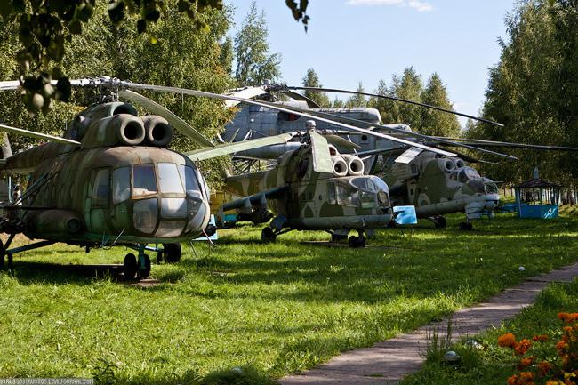 Музей вертолетов - экспонаты