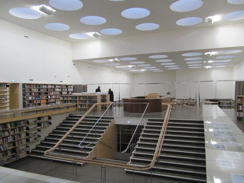 Библиотека Алвара Аалто изнутри