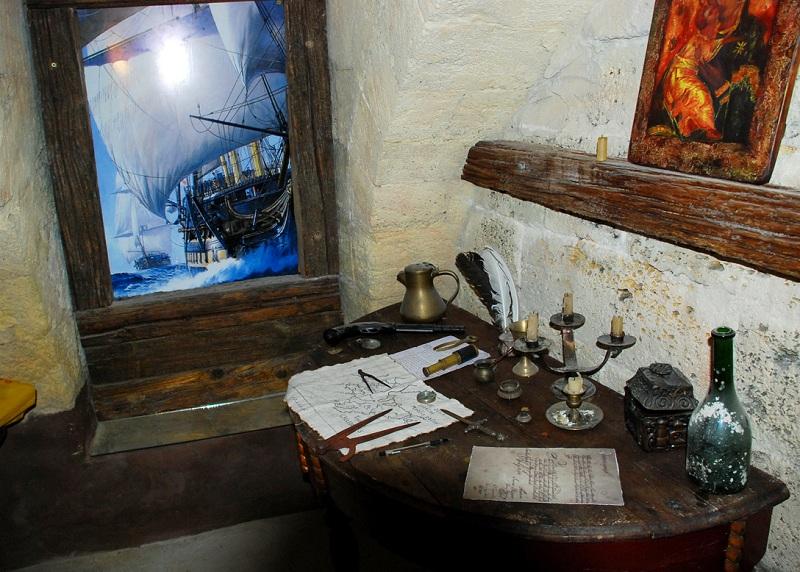 Музей «Пираты Черного моря» внутри