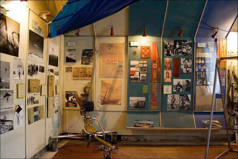 Музей дельтапланеризма внутри