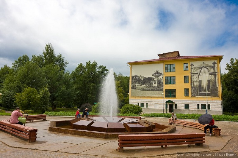 Курорт Старая Русса фонтан