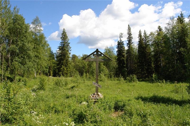 Гора Секирная крест