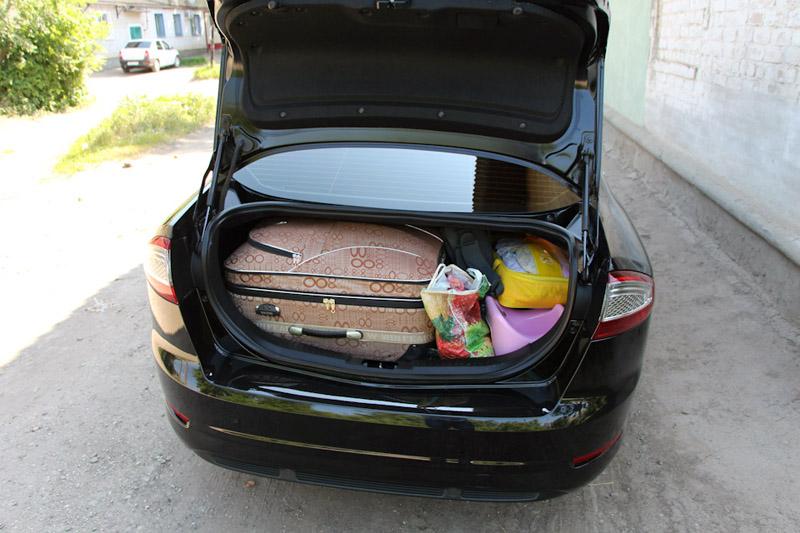 багажник в дороге