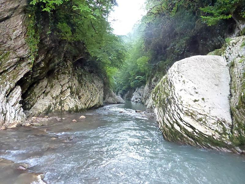 каньон Чертовы ворота на реке Хоста