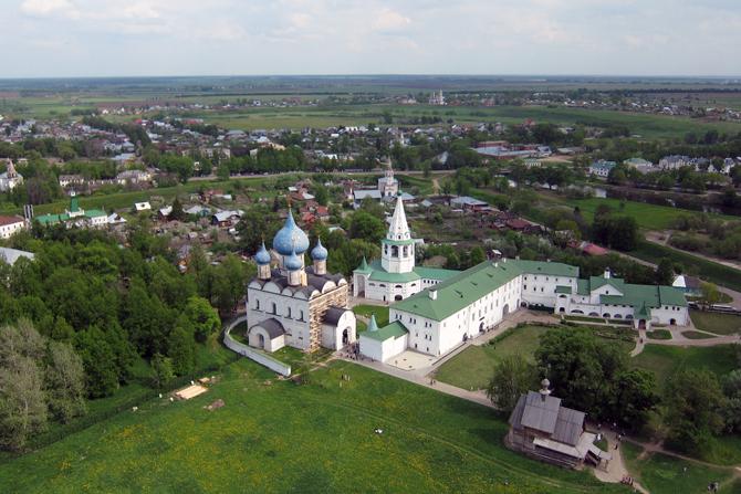 Суздальский кремль: аэрофотосъемка