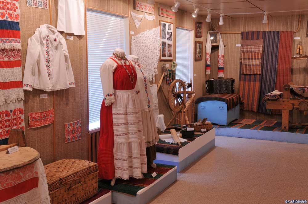Ижорский народный музей внутри