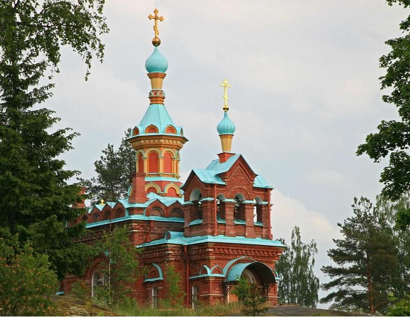 Остров Путсаари церковь