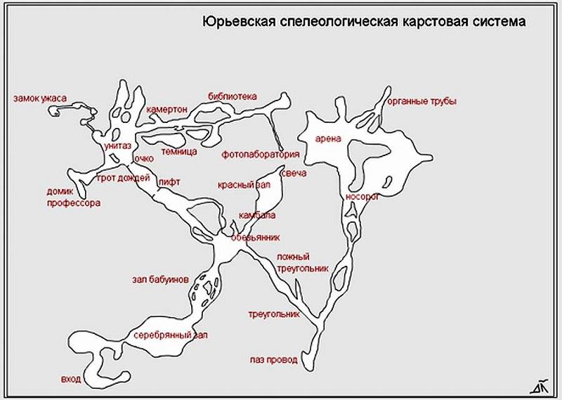 Юрьевская пещера карта