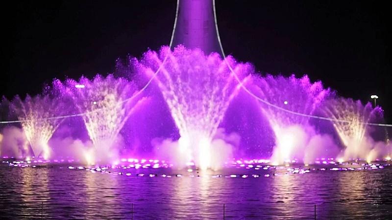 Олимпийский парк поющие фонтаны