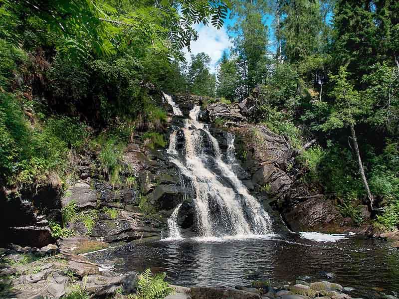 Водопад Юканкоски или Белые мосты