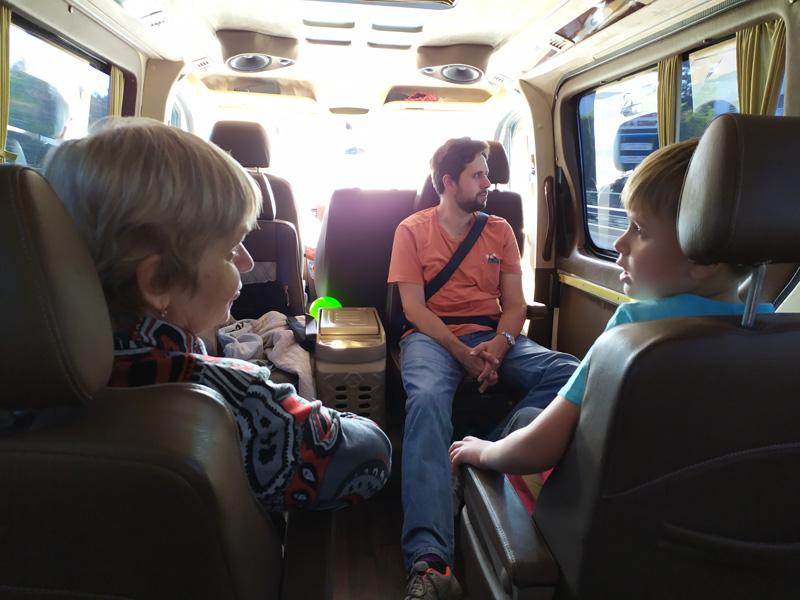 Салон минибуса на 7 человек у Kiwitaxi