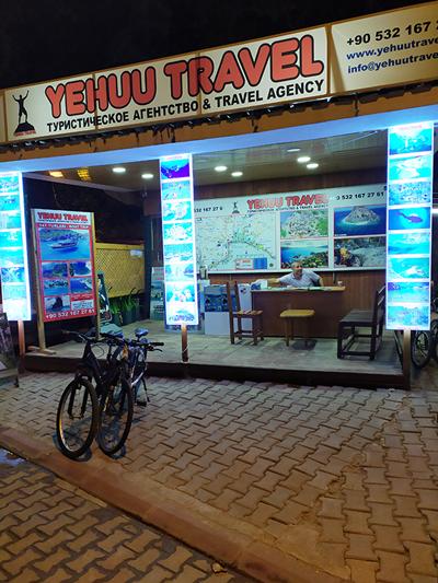 Палатка с экскурсиями и трансфером в туристических поселках Турции